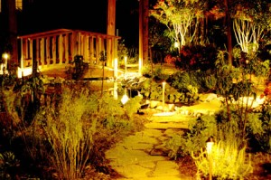 landscape lighting, landscaping design, floodlights, path lighting