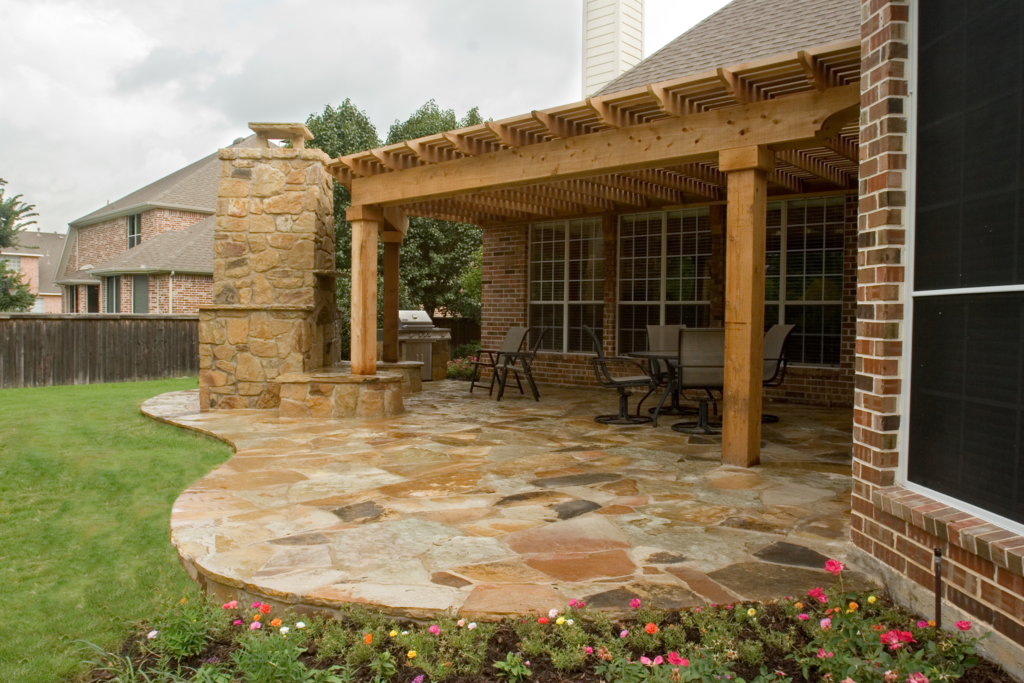 Add a patio cover to your backyard today lawn for Ideas for covered back porch on single story ranch
