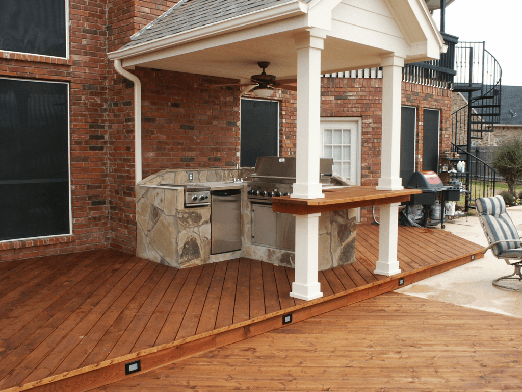 10 Great Deck Lighting Ideas For Your Outdoor Patio: Outdoor Kitchen Gallery